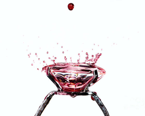 Ring Poster featuring the photograph Blood Diamond by Mats Silvan