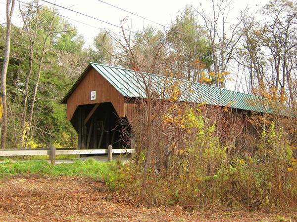 Nh Poster featuring the photograph Blow-me-down Covered Bridge by Wayne Toutaint