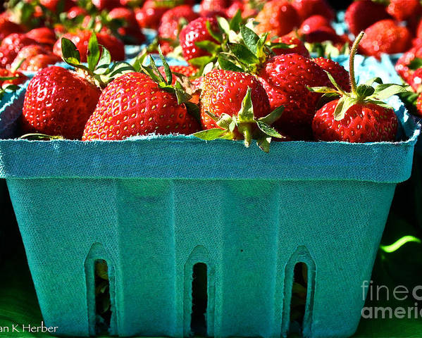 Food Poster featuring the photograph Blue Box by Susan Herber