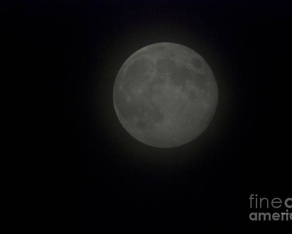 Full Moon Poster featuring the photograph Blue Moon by Thomas Woolworth