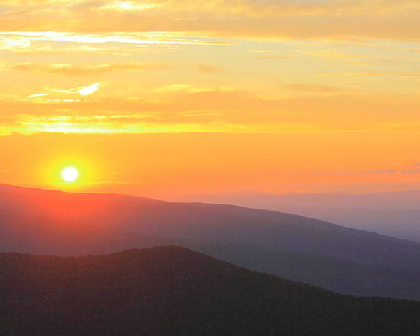 Blue Ridge Parkway Poster featuring the photograph Blue Ridge Sunset by Andrew Montgomery