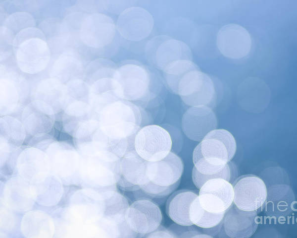 Blue Poster featuring the photograph Blue Water And Sunshine Abstract by Elena Elisseeva