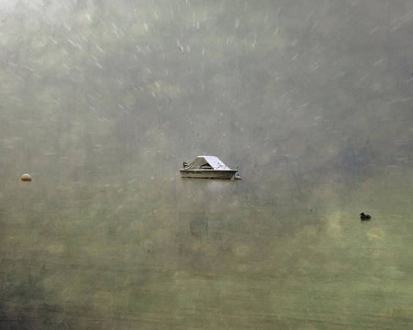 Boat Poster featuring the photograph Boat In The Snow by Joana Kruse