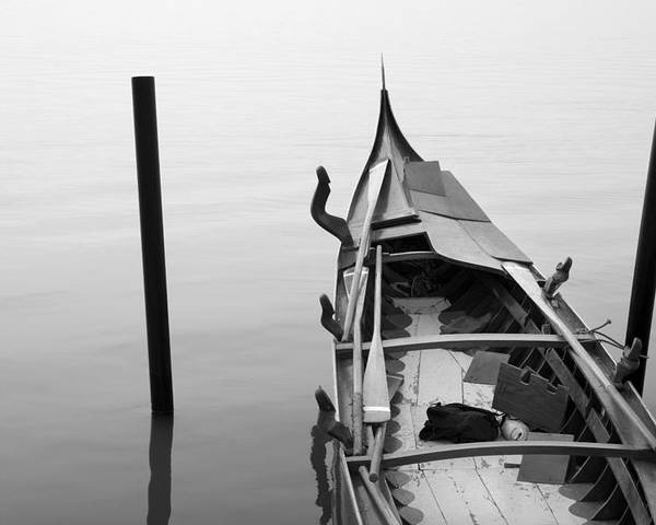 Venice Poster featuring the photograph Boat In Venecia by Zarija Pavikevik