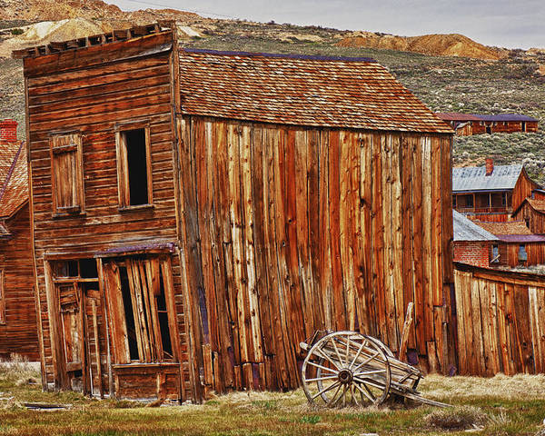 Bodie Poster featuring the photograph Bodie Ghost Town by Garry Gay