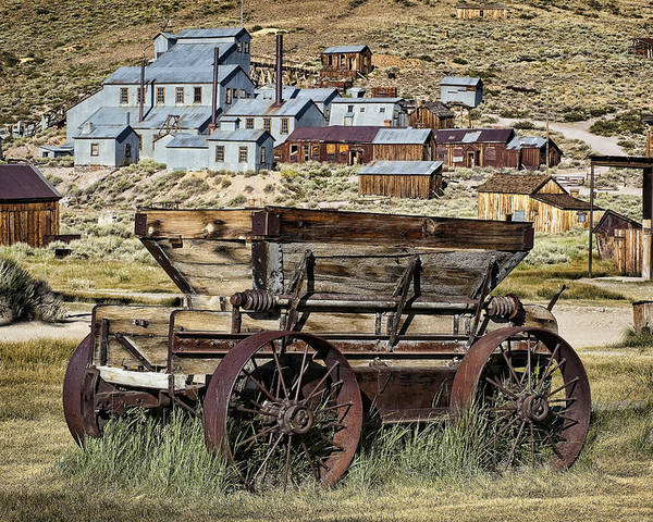 Bodie Poster featuring the photograph Bodie Wagon by Kelley King