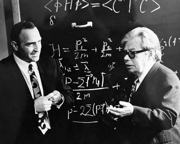 Albert Tavkhelidze Poster featuring the photograph Bogolyubov (right), Soviet Physicist by Ria Novosti