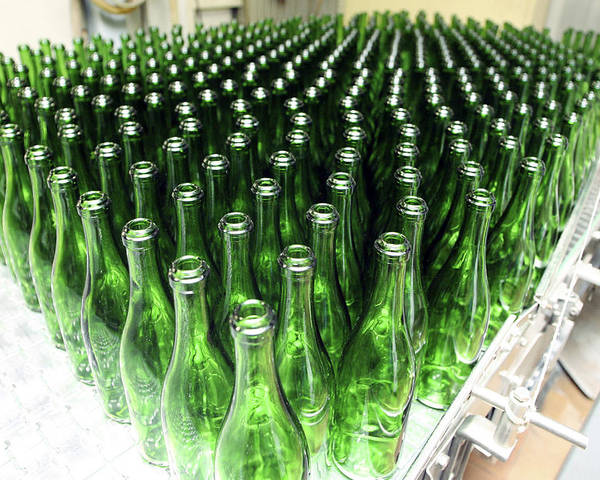 Cornet Poster featuring the photograph Bottles At A Wine Bottling Factory by Ria Novosti