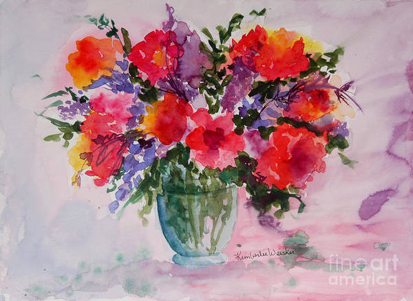 Floral Bouquet Poster featuring the painting Bouquet Of Wishes by Kimberlee Weisker