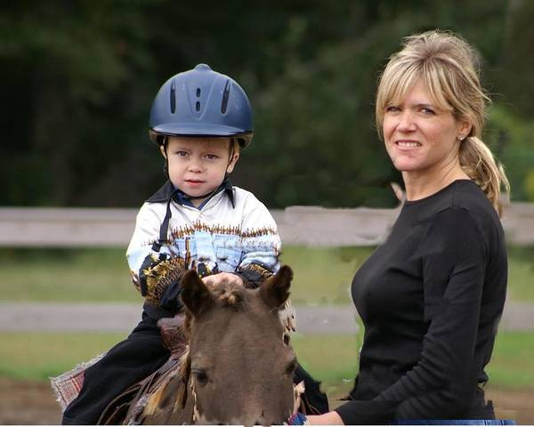 Horse Poster featuring the photograph Boy His Horse And Mom by Drew Pitcher