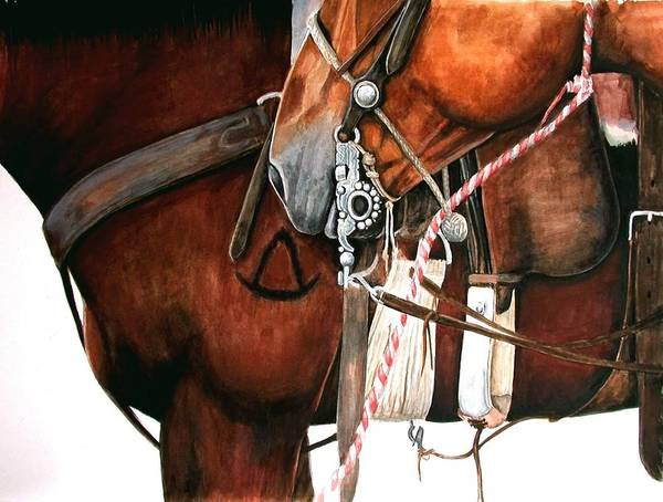Horse Poster featuring the painting Branded by Lori Lamberson