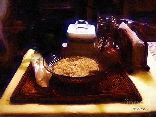 Breakfast Poster featuring the painting Breakfast Of Champions by RC DeWinter