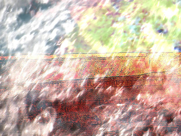 Abstract Poster featuring the photograph Bridge Over Troubled Waters by Lenore Senior