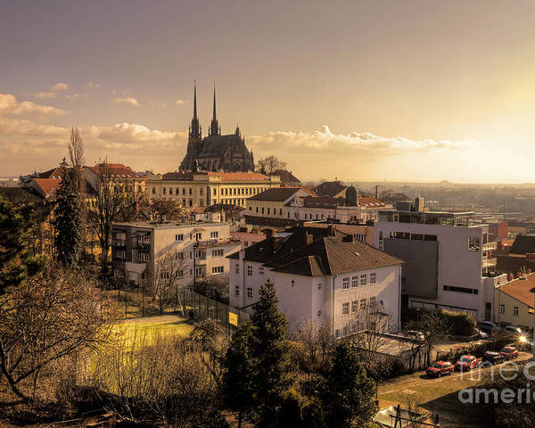 Brno Poster featuring the photograph Brno Skyline by Rob Hawkins