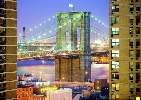 Horizontal Poster featuring the photograph Brooklyn Bridge by Tony Shi Photography