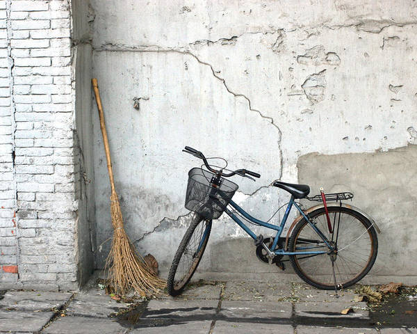 Broom Poster featuring the photograph Broom And Bike by Glennis Siverson