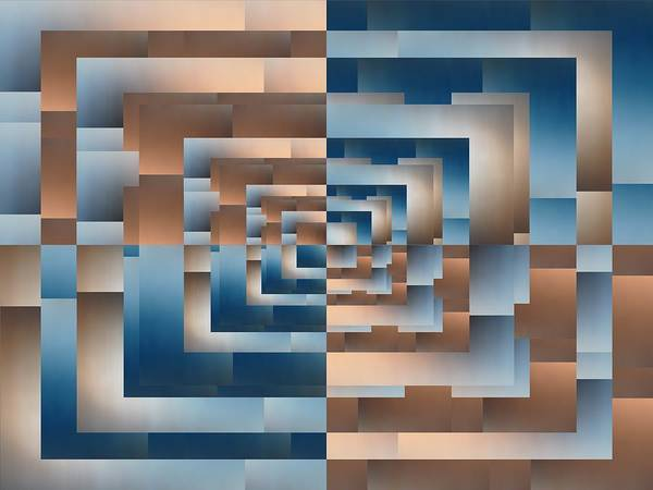 Abstract Poster featuring the digital art Brushed 13 by Tim Allen