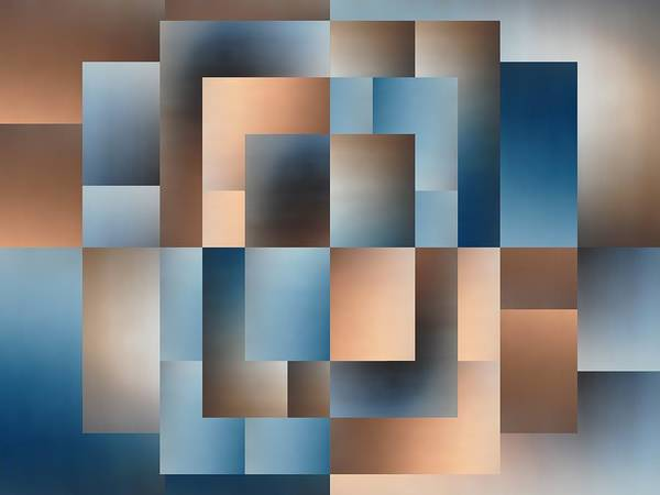 Abstract Poster featuring the digital art Brushed 14 by Tim Allen