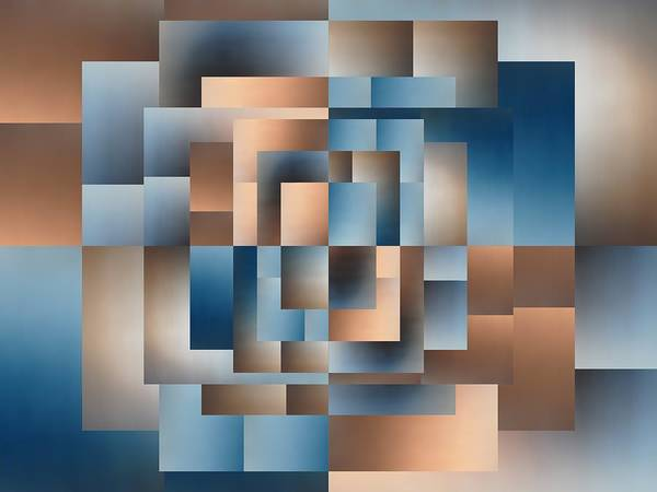 Abstract Poster featuring the digital art Brushed 15 by Tim Allen