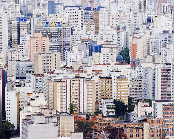 Apartment Poster featuring the photograph Buildings Of Downtown Sao Paulo by Jeremy Woodhouse