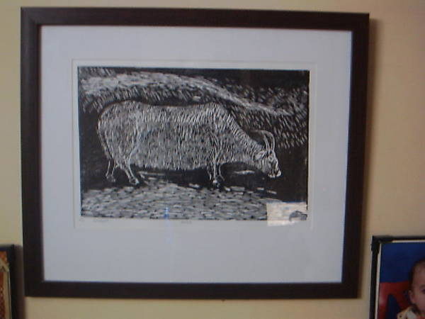 Bull Poster featuring the relief Bull by Deepak chand