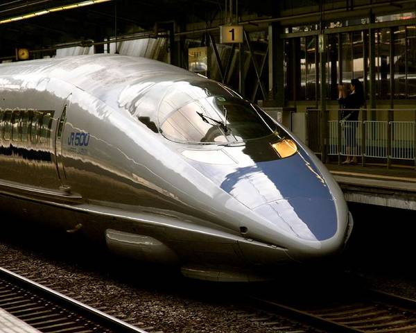 Bullet Poster featuring the photograph Bullet Train by Jerry Patterson
