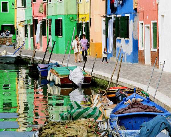 Reflections Poster featuring the photograph Burano Reflections by Greg Matchick
