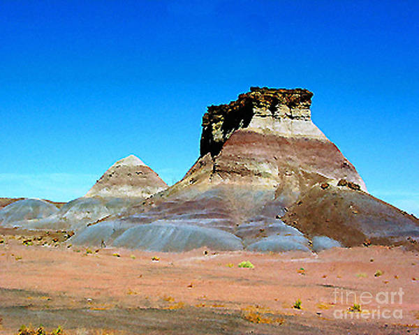 Painted Desert Poster featuring the photograph Buttes In The Painted Desert In Arizona by Merton Allen