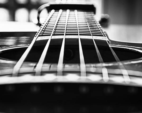 Bw Poster featuring the photograph Bw Guitar by Javier Luces