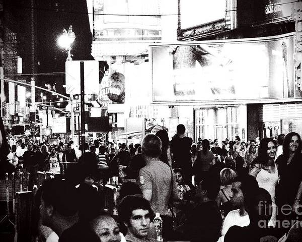 Nyc Poster featuring the photograph Bw Times Square by Joby Remigio