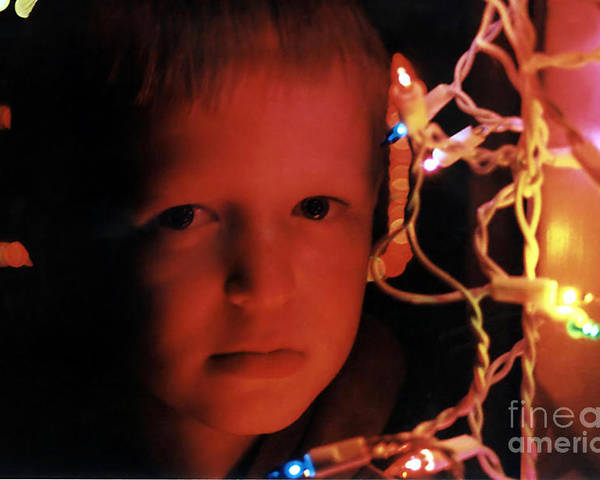 People Poster featuring the photograph By The Glow Of Christmas Lights by Susan Stevenson