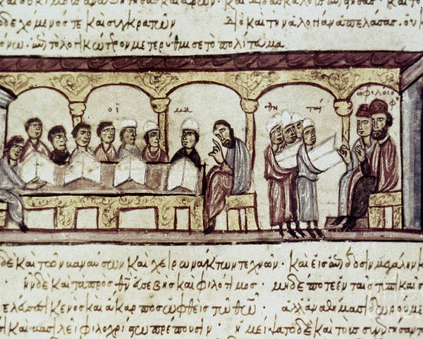 13th Century Poster featuring the photograph Byzantine Philosophy School by Granger