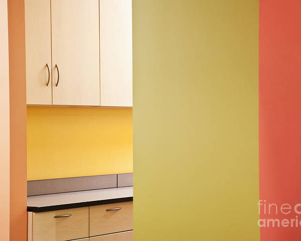 Architecture Poster featuring the photograph Cabinets In An Office Supply Room by Jetta Productions, Inc