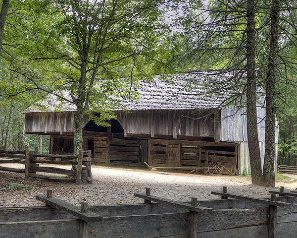 Cable Mill Poster featuring the photograph Cable Mill Barn Cades Cove by Mike Aldridge