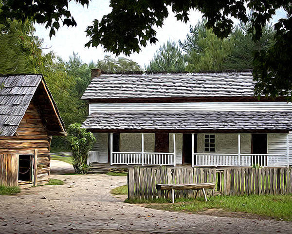 Cades Cove Poster featuring the photograph Cable Mill Home Place Cades Cove by Mike Aldridge