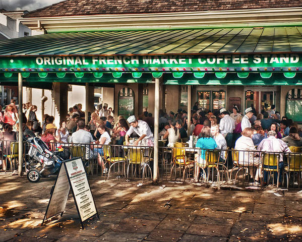 New Orleans Poster featuring the photograph Cafe Du Monde by Brenda Bryant