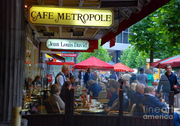 Cafe Metropole Poster featuring the photograph Cafe Metropole by Andrea Simon
