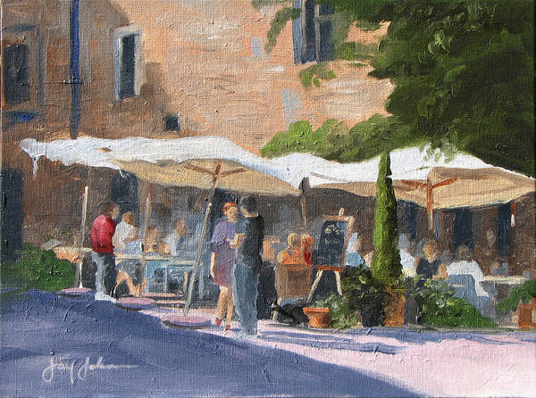 Landscape Poster featuring the painting Cafe Senna by Jay Johnson