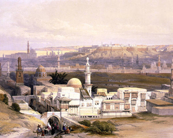 Cairo Poster featuring the photograph Cairo From The Gate Of Citizenib Looking Toward The Desert Of Suez by Munir Alawi