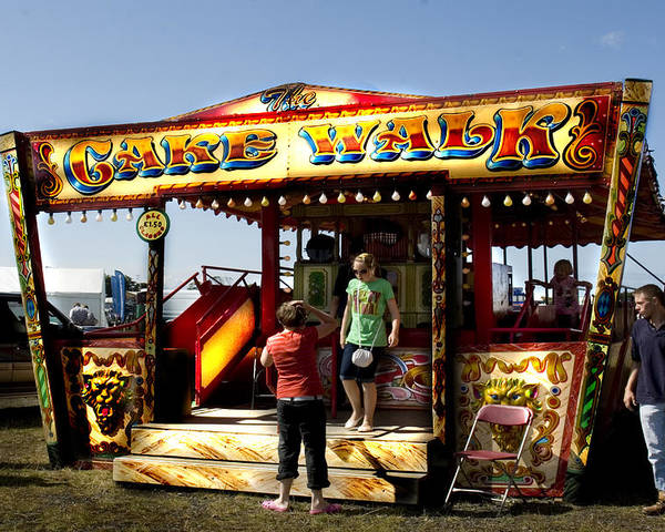 Classic Fairground Ride Poster featuring the photograph Cakewalk by Peter Jenkins