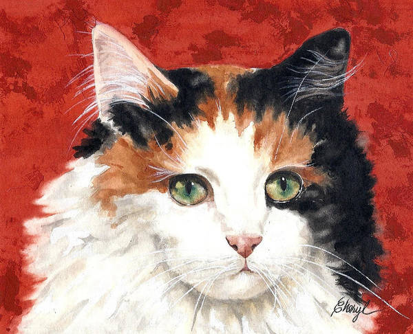 Animals Poster featuring the painting Callie by Cheryl Bannister