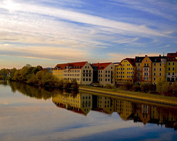 Danube River Germany Poster featuring the photograph Calm As Glass by Anthony Citro