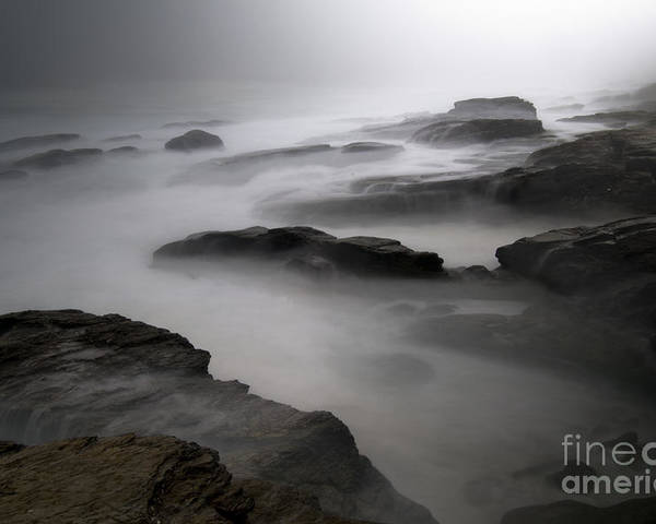 Seascape Poster featuring the photograph Calm Before The Storm by Laura Paton
