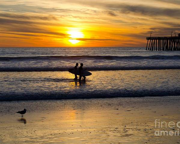 Sunset Poster featuring the photograph Calm Waters by Athena Lin