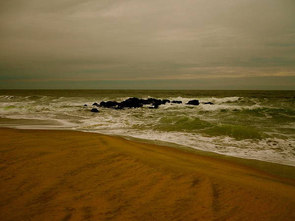 Ocean Grove. Beach Poster featuring the photograph Calm Waters by Joe Burns