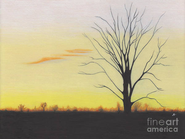 Landscape Poster featuring the painting Calming by Scott Alberts