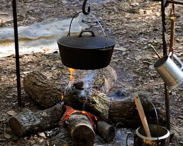 Photography Poster featuring the photograph Campfire Cooking by David Lee Thompson