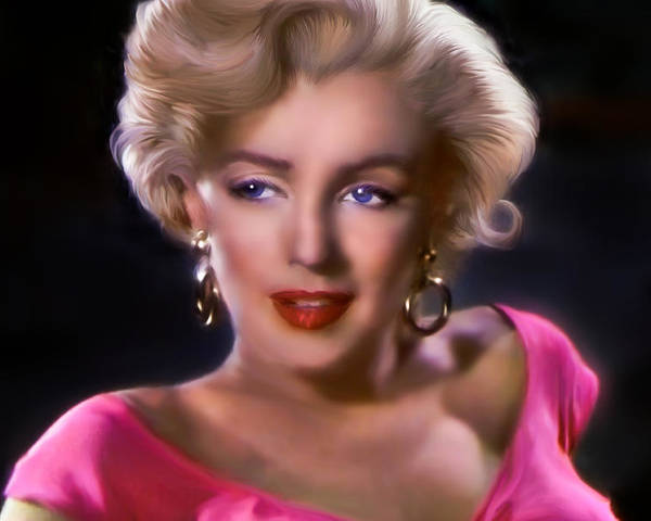 Marylin Monroe Poster featuring the digital art Candle In The Wind by Julie L Hoddinott
