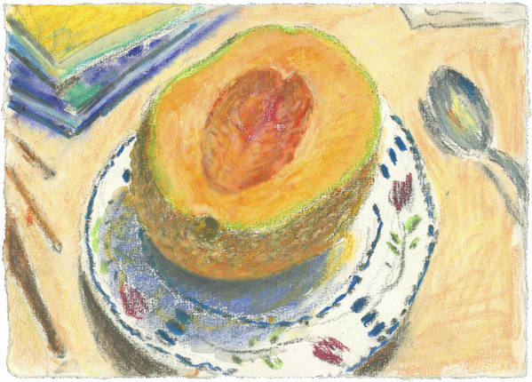 Fruit Poster featuring the painting Canteloupe by Scott Bennett