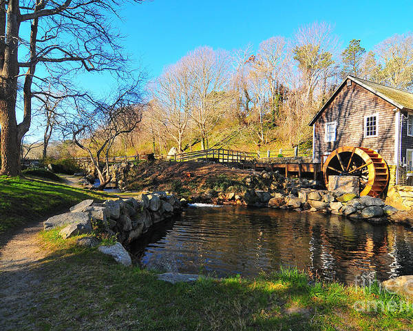 Grist Mill Cape Cods Poster featuring the photograph Cape Cod Grist Mill by Catherine Reusch Daley